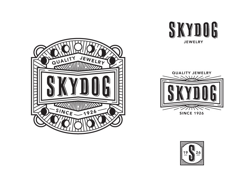 Skydog Jewelry Final Logos logo jewelry gem stone moon sky night masculine native american desert
