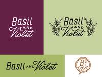 Basil & Violet Logo Mock A