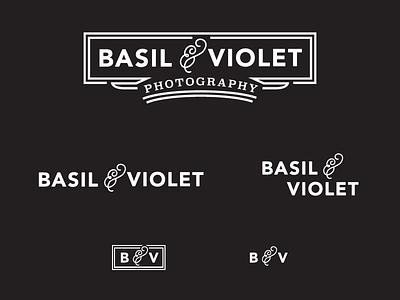 Basil And Violet Logo Variations C logo branding simple elegant vintage