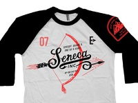Seneca Ink Hoodzpah Racing Raglan