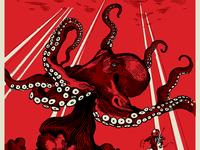 Czar Press Giant Octopus Poster