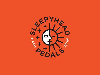 Sleepyhead Logo B nashville bold simple retro guitar pedal stars moon sun seal logo
