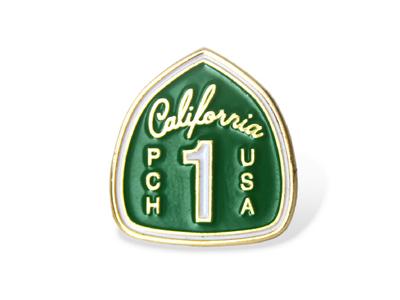 Pch Enamel Pin  palm canyon drive highway california pch enamel pin
