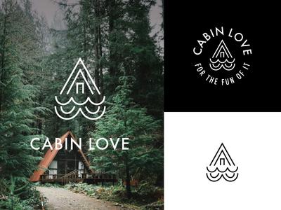 Amazing Cabin Love Logo Mock A