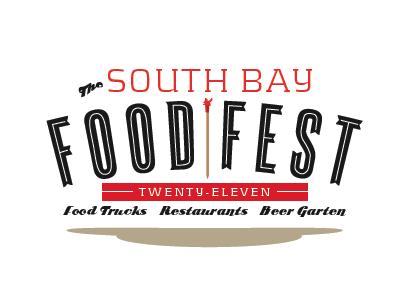 South Bay Food Fest Logo Option 2 food fest festival logo branding retro vintage typography