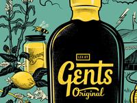 Gents Snub Bottle Poster