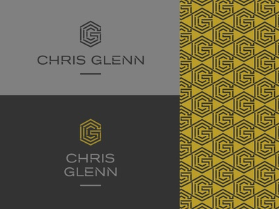 Chris Glenn Logo A angular pattern monogram seal shadow logo
