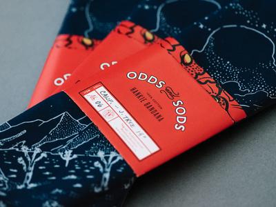 Joshua Tree Bandana and Packaging