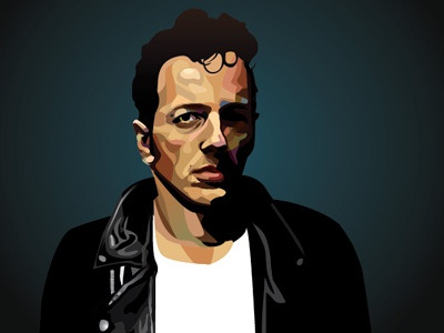 Joe Strummer Illustration WIP rock n roll rock punk the clash music illustration portrait graphic illustration art design