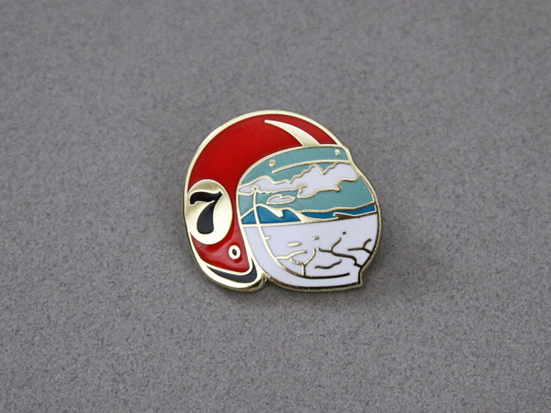 Salt Flats Enamel Pin speed salt flats desert hot rod motorcycle racing helmet