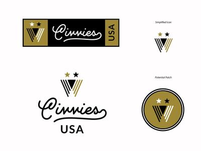 Civvies Unchosen Option america seal military army stars torch branding logo