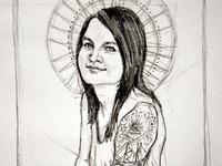 Sketch of Sara Wilkins