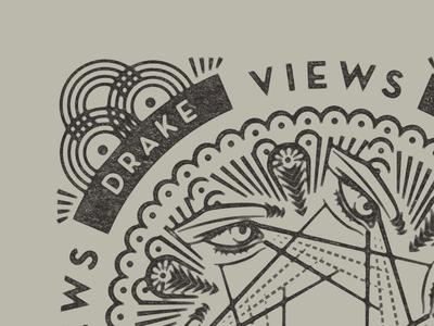 Drake Views: Top Albums of 2016 pattern hoodzpah sight retro vintage deco illustration view illuminati eyes drake album