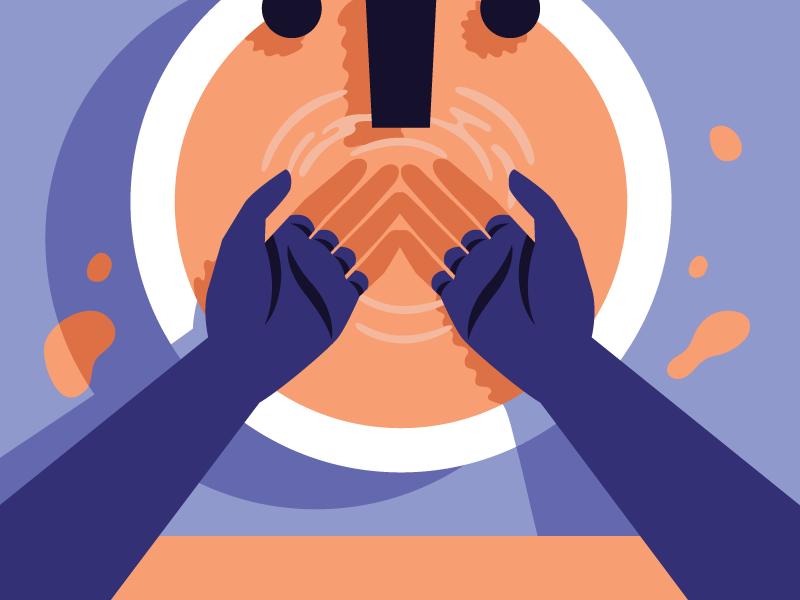 Image result for washing hands illustration