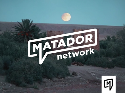 Matador Secondary Logo and Icon hoodzpah angled clean bold word bubble icon logo