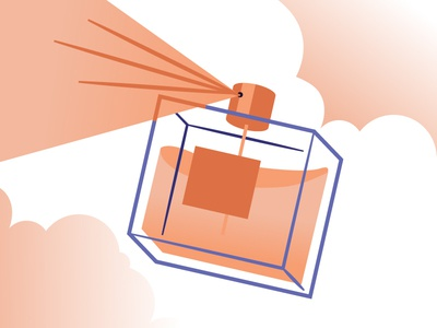 Perfume Illustration gradient illustration cloud mist spray cologne perfume