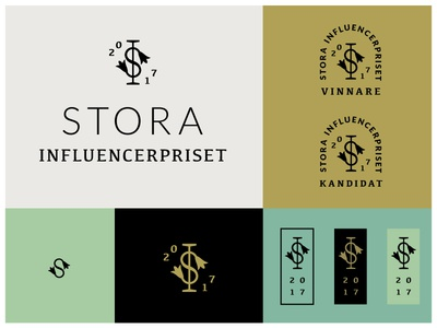 Stora Influencer Option B regal classic boss extra awards branding logo monogram twin flower swedish