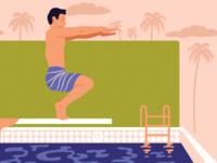 BYI Pool Yoga Illustratio