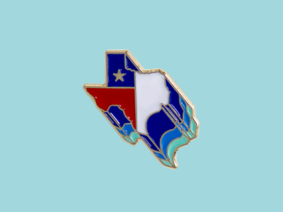 Retro Texas Enamel Pin movement psychedelic retro america lone star texas