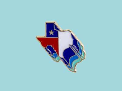 Retro Texas Enamel Pin
