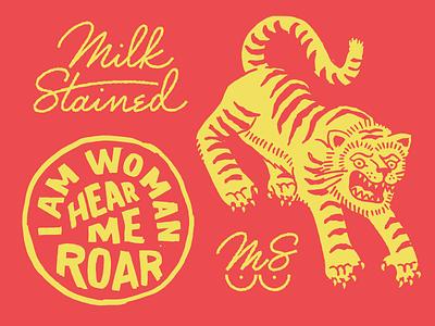 I Am Woman Hear Me Roar hoodzpah retro vintage roar t-shirt tiger