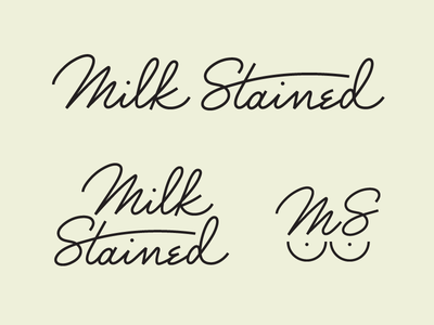 Custom Milk Stained Logo Wordmark