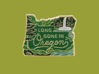 Long Gone Oregon Pin 02