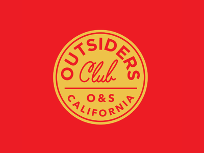 Outsiders Club Seal / Patch