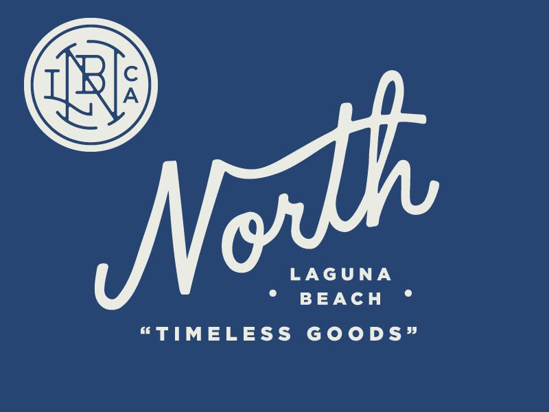 North Menswear Secondary Logos retro wordmark lettering script monogram sea branding logo
