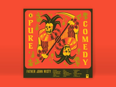 10x17 - 1. Father John Misty, Pure Comedy comedy jester flames death grim reaper