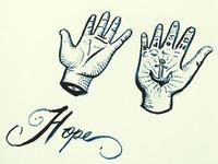 Hand Anchor Tattoo Illustration