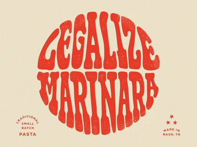 Legalize Marinara Lettering