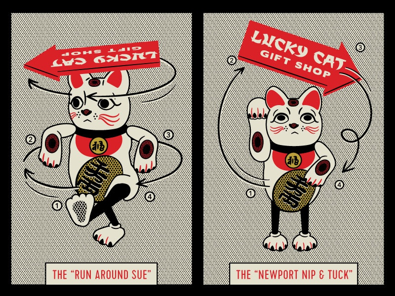 Promoting yourself lucky cat dribbble