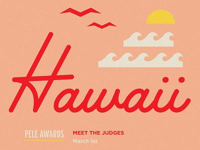 Hoods Take Hawaii! Workshop & Awards retro ocean sun seagulls waves hoodzpah hawaii