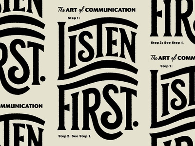 Listen First... The Art of Communication