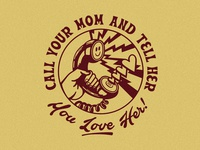 Milk Stained Call Your Mom Tee