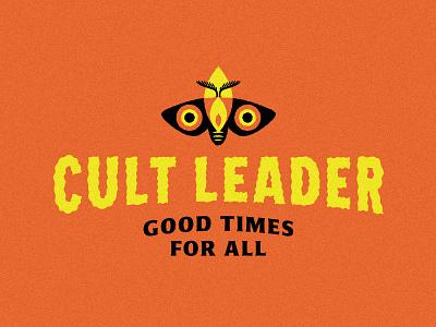 Cult Leader Logo horror fire flame moth logo
