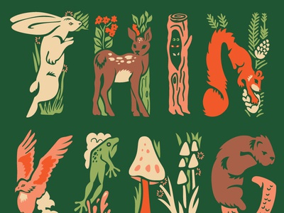 Woodland Creatures Card - Design for Hope