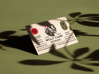 Wolf camp studios business card front hoodzpah 2