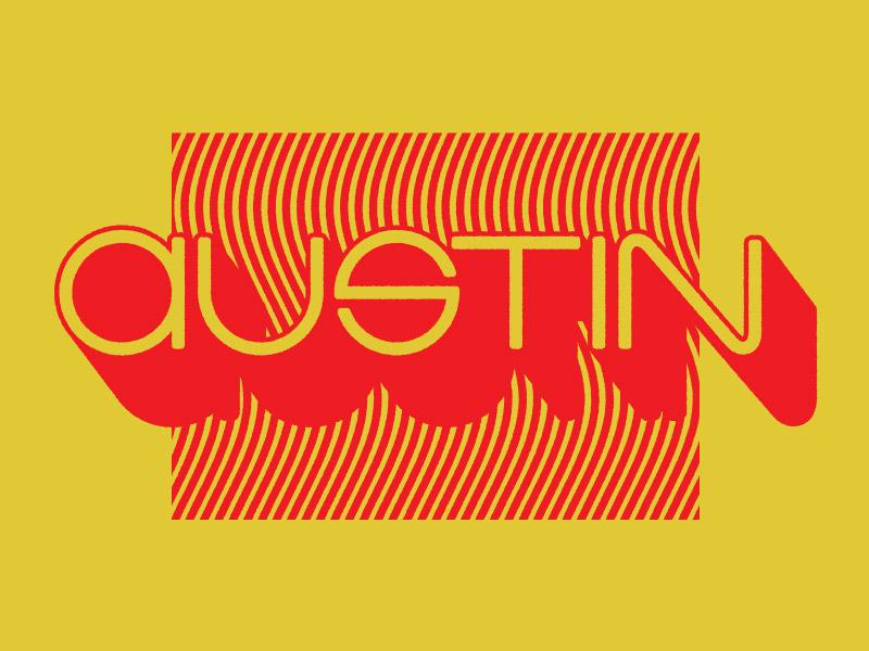 Austin Goodtype Workshop Dribbble bright wavy geometric psychadelic retro lettering