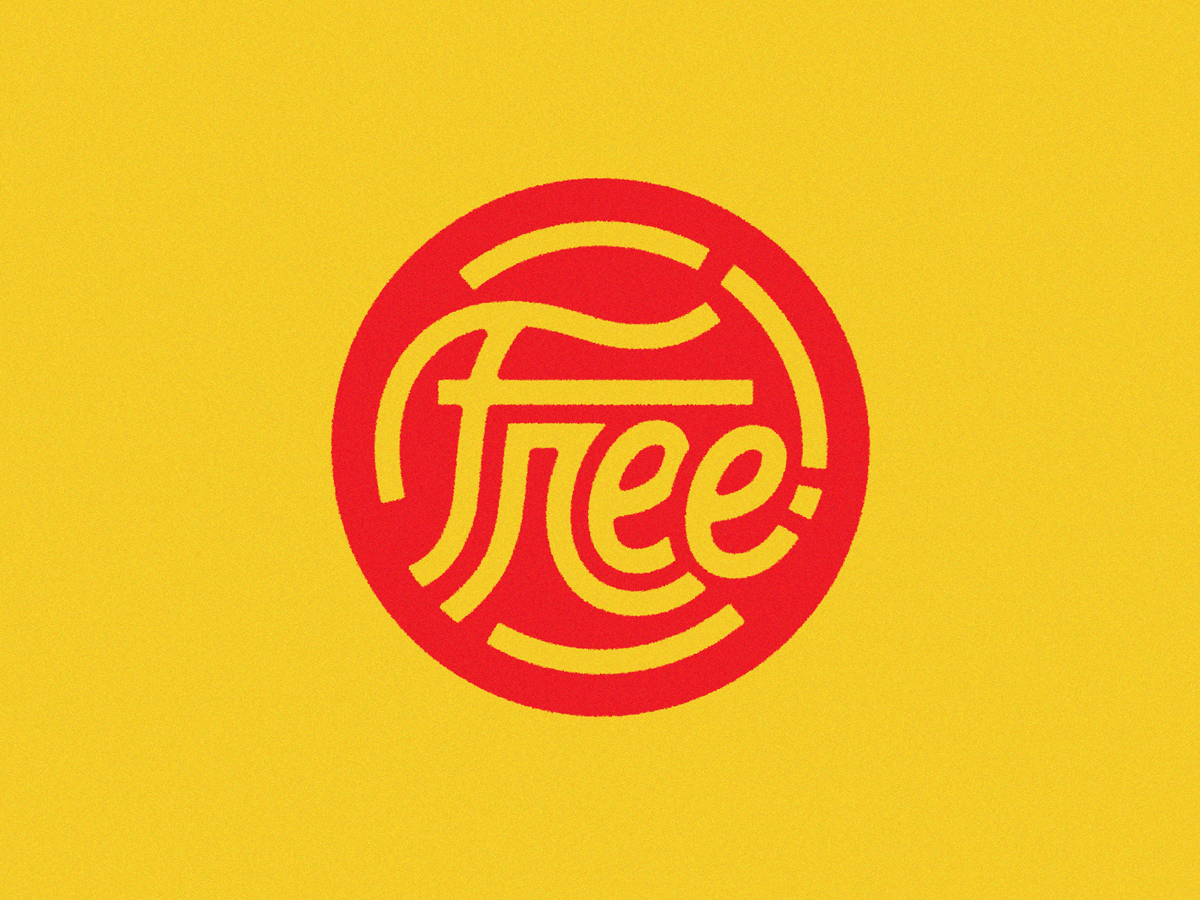"""""""Free"""" lettering seal free sticker retro seal lettering"""