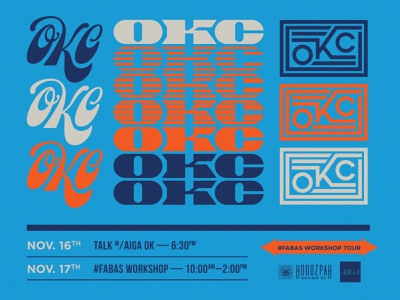 OKC - Freelancing Workshop! 80s retro script typography lettering oklahoma city hoodzpah event workshop