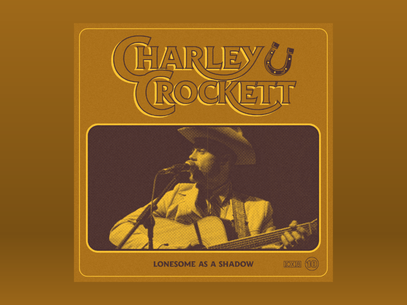 10x18: #10 Charley Crockett - Lonesome As A Shadow couch retro western horse shoe country album 10x18