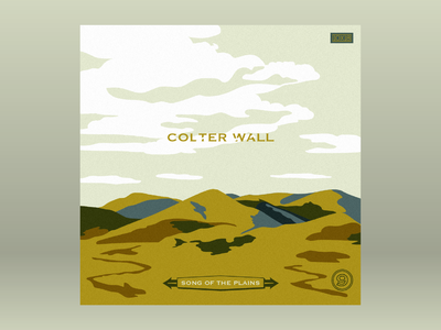 10x18: #9 Colter Wall - Song of the Plains 10x18 album clouds hills mountains nature sky canada plains western country