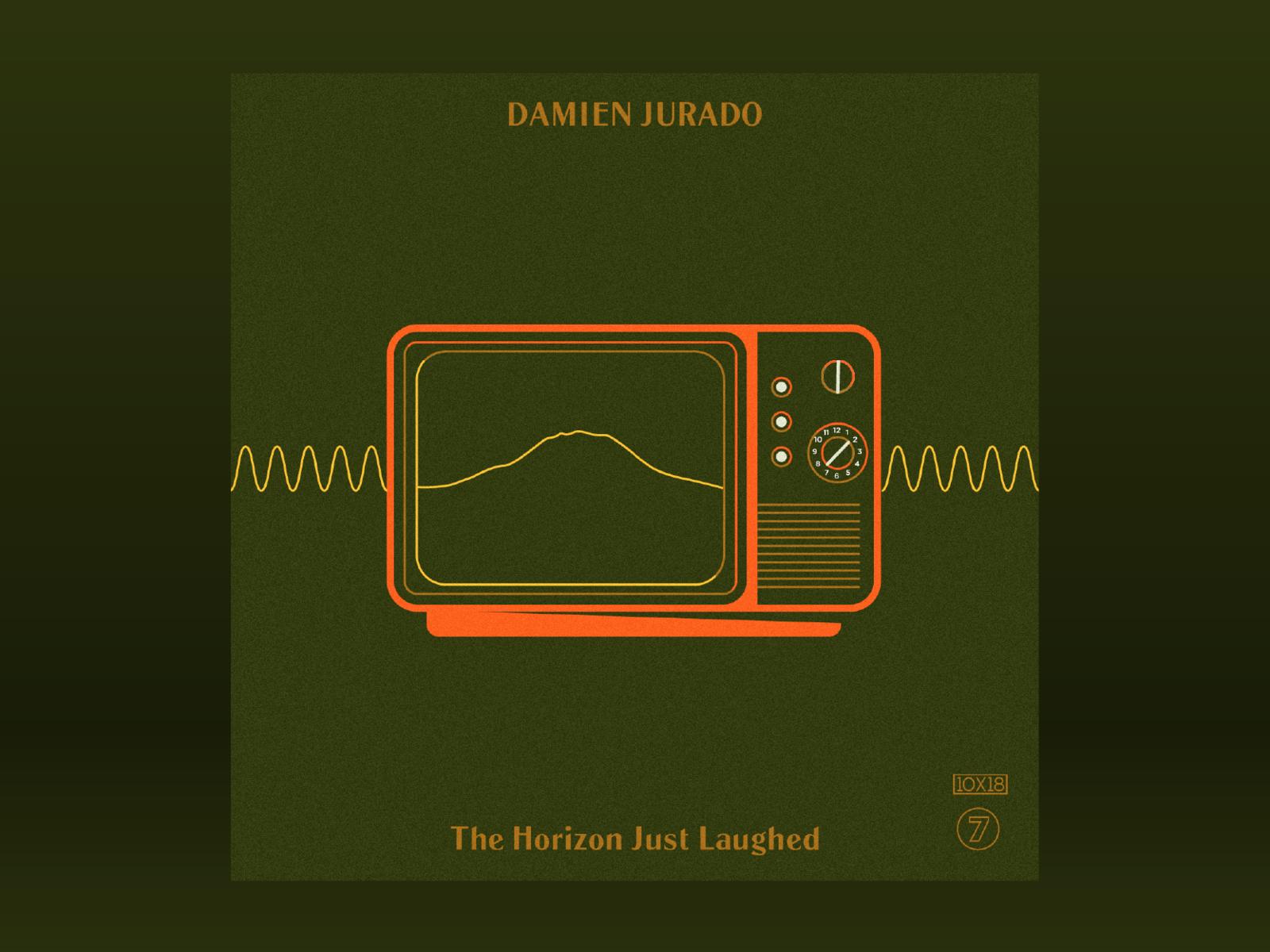 10x18: #7 Damien Jurado - The Horizon Just Laughed album vintage retro tv sound waves mt rainier 10x18