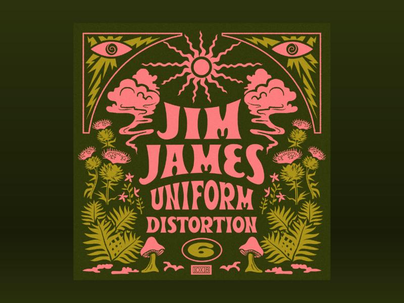 10x18: #6 Jim James - Uniform Distortion 10x18 album art lettering magical forest psychedelic retro trippy smoke illustration hoodzpah beale