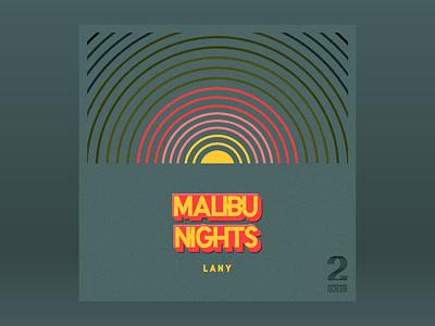 10x18: #2 LANY - Malibu Nights hoodzpah retro sunset monoline malibu sun rays sun lanyard 10x18