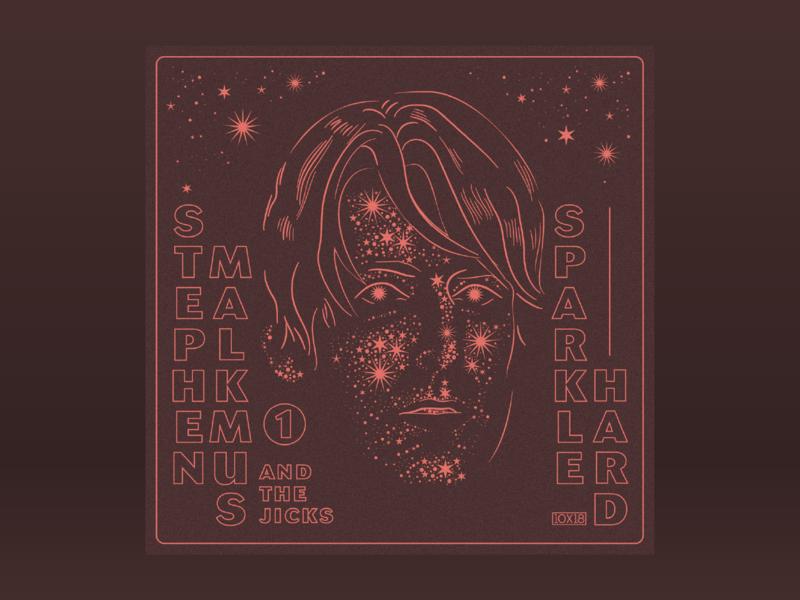 10x18: #1 Stephen Malkmus and The Jicks - Sparkle Hard man portrait night sky hoodzpah 10x18 album art album sparkle stardust stars