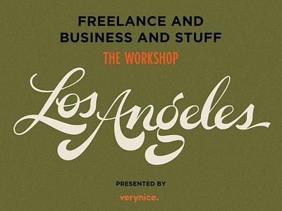 LA #FABAS Workshop! workshop freelancing freelance business lettering script la los angeles fabas