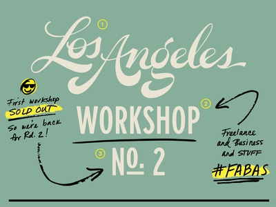 FABAS LA workshop #2! editorial design notes handwritten workshop lettering script